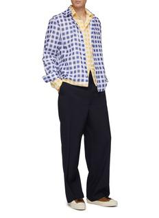 Marni 双层格纹纯棉衬衫式夹克