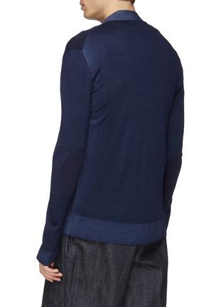 背面 - 点击放大 - Marni - 拼色混初剪羊毛针织开衫