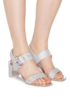 SOPHIA WEBSTER Arlo 40仿水晶针扣搭带闪粉粗跟凉鞋