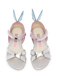 Sophia Webster Chiara幼儿款蝴蝶翅膀真皮交叉搭带凉鞋