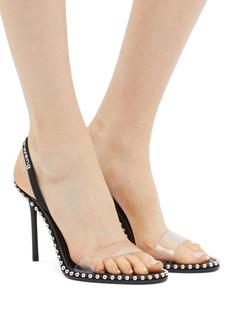 alexanderwang Nova圆形铆钉PVC搭带高跟凉鞋