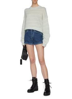 3x1 Eden折叠裤脚口高腰牛仔短裤