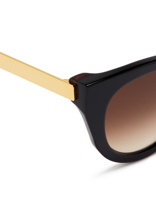 细节 - 点击放大 - THIERRY LASRY - Snobby金属拼接猫眼款太阳眼镜