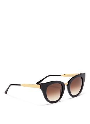 模特示范图 - 点击放大 - THIERRY LASRY - Snobby金属拼接猫眼款太阳眼镜