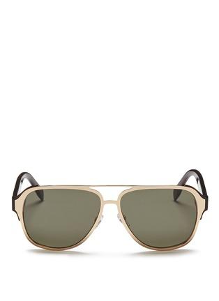 首图 - 点击放大 - Alexander McQueen - 金属顶框飞行员太阳眼镜