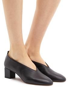 Gray Matters Mildred方形粗跟真皮奶奶鞋