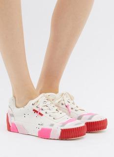 both Broken C拼色粒面橡胶运动鞋