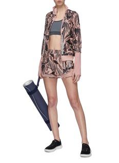 adidas by Stella McCartney Run反光条纹花卉防泼水双拉链夹克