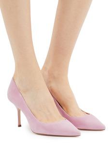 MAGRIT 心形鞋口绒面真皮高跟鞋