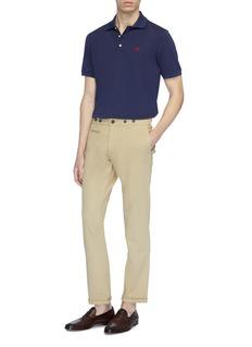 ISAIA 品牌标志刺绣polo衫