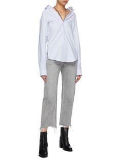 alexanderwang 可拆式项链露肩条纹衬衫