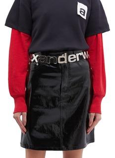 alexanderwang 金属品牌名称腰带