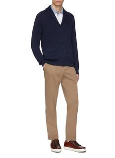 Brunello Cucinelli 拼色纯棉珠地布polo衫