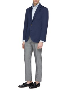 Brunello Cucinelli 条纹亚麻衬衫