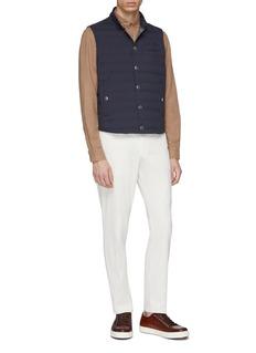 Brunello Cucinelli 染色亚麻混棉衬衫