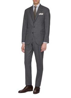 Brunello Cucinelli 法式领条纹棉混亚麻衬衫