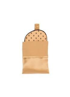 Manito Golden Pig真丝眼罩及抱枕旅行套装-金棕色