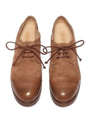 细节 - 点击放大 - Marsèll - 光滑皮拼接仿旧真皮德比鞋