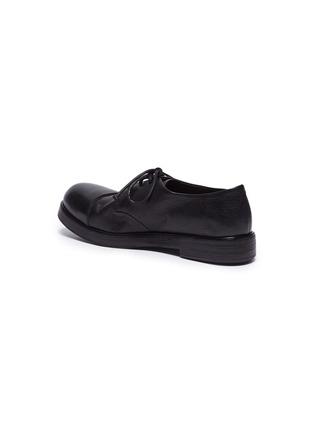 细节 - 点击放大 - Marsèll - 光滑皮拼接皱感真皮德比鞋