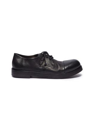 首图 - 点击放大 - Marsèll - 光滑皮拼接皱感真皮德比鞋