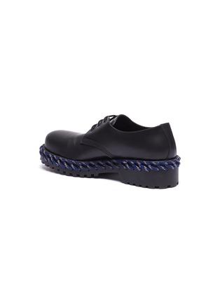 - Balenciaga - 拼色编绳厚底真皮德比鞋