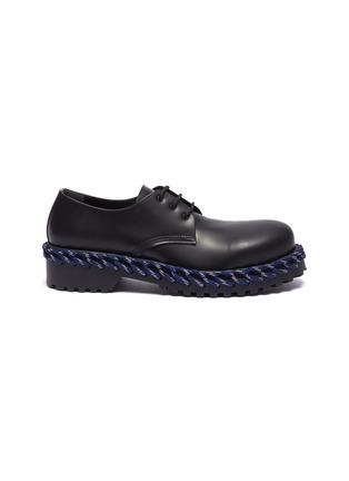 首图 - 点击放大 - Balenciaga - 拼色编绳厚底真皮德比鞋