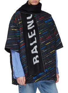 Balenciaga 品牌名称羊毛围巾