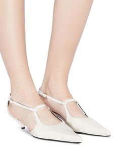 The Row Bourgoise Salome侧镂空高跟鞋