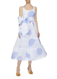 Leal Daccarett Mila泼墨印花系带蝴蝶结连衣裙