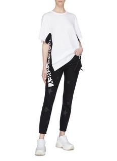 STELLA MCCARTNEY 品牌名称条状布饰oversize T恤