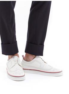 THOM BROWNE 翼纹雕花荔枝纹真皮运动鞋
