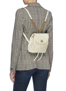 Gucci GG Marmont绗缝真皮双肩包