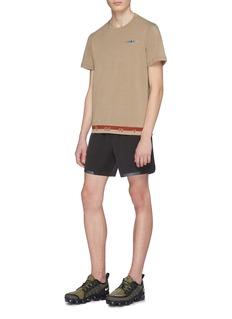 Particle Fever 品牌名称针织下摆功能T恤