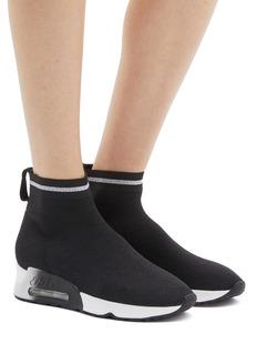 ASH Lovely闪亮针织袜靴式高筒运动鞋