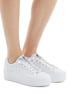 ASH Buzz拉链设计小牛皮厚底运动鞋