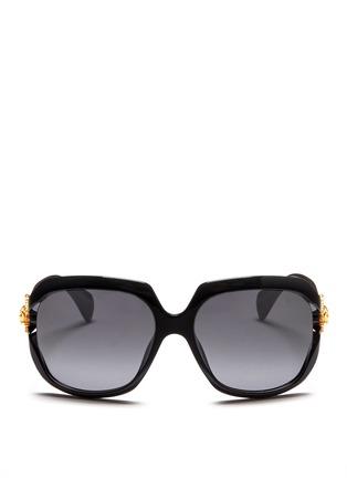首图 - 点击放大 - Alexander McQueen - Sunray skull stud acetate sunglasses