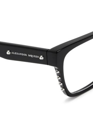 细节 - 点击放大 - Alexander McQueen - Stud square frame optical glasses