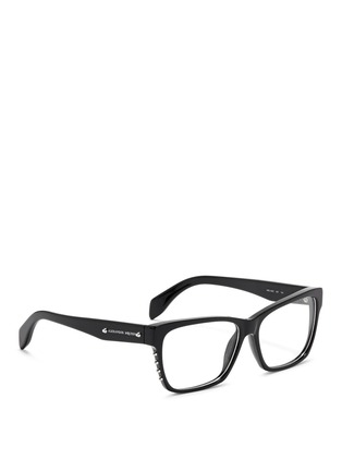 模特示范图 - 点击放大 - Alexander McQueen - Stud square frame optical glasses