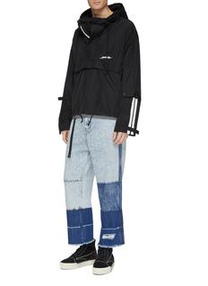 INDICE STUDIO Dean拼接设计须边牛仔裤