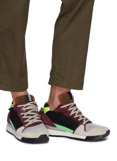 P448 COLORADO拼接设计绒面真皮运动鞋
