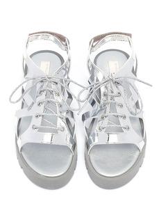 STELLA MCCARTNEY KIDS 儿童款镂空五角星系带凉鞋