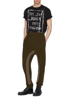 Haider Ackermann 英文标语荆棘印花纯棉T恤