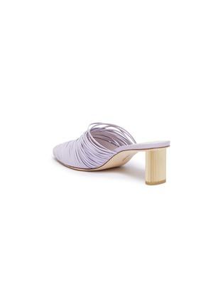 - Cult Gaia - Sage金属粗跟多重真皮搭带穆勒鞋