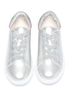 WiNK Popcorn儿童款仿水晶点亮真皮运动鞋