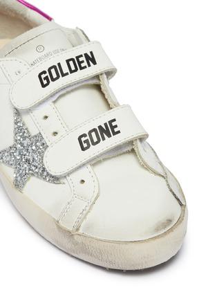 细节 - 点击放大 - Golden Goose - Old School儿童款魔术贴搭带真皮运动鞋