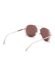 Linda Farrow 镜面飞行员太阳眼镜