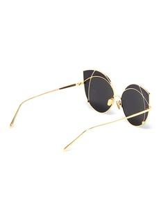 Linda Farrow 搭叠效果猫眼太阳眼镜