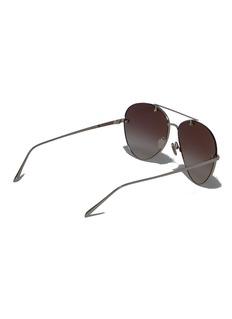 Linda Farrow 镜面镜片飞行员太阳眼镜
