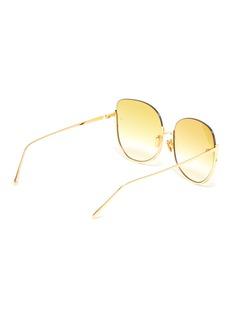 Linda Farrow 半圆金属镜框渐变太阳眼镜