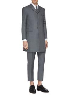 Thom Browne 四重条纹斜纹布切斯特大衣